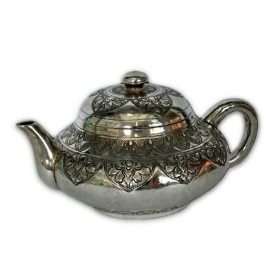 Antique Malay Silver Kettle, Brunei – Circa 1910. Absolutely Stunning!
