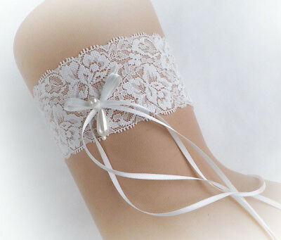 Light Ivory Off White  Soft Lace Personalized Garter