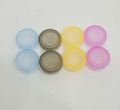 Contact Lens Case Storage Soaking Mini Travel Eye Care L/R Marked Choose Colour