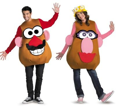 Mr or Mrs Potato Head Costume Deluxe Adult Mr. Mrs. Disney Toy Story - Fast Ship
