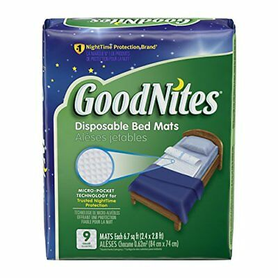 GoodNites Disposable Bed Mats, 9 Count