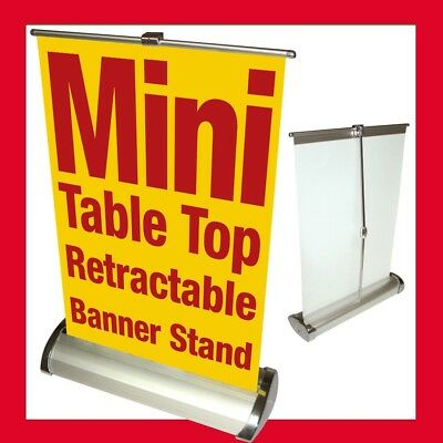 "Mini Retractable Table A4 counter Banner tradeshow Stand pop-up kit 8.5""x 12"""