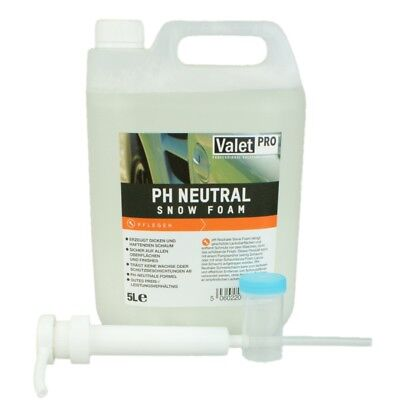 ValetPRO pH Neutral Snow Foam 5 Liter + Dispenser und Messbecher