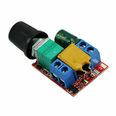 Mini DC 3V-35V 5A Motor PWM Speed Controller Speed Control Switch LED Dimmer Qd