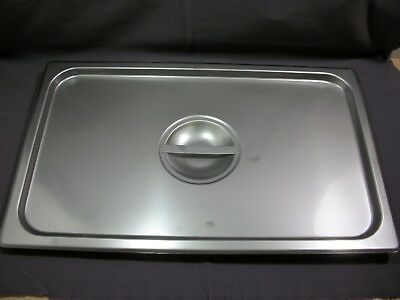 Full Size Solid Stainless Steel Steam Table / Hotel Pan Lid Cover 21x13 NEW
