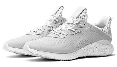 low priced 66195 d2b4d ADIDAS ALPHABOUNCE REIGNING Champ Womens Running Shoe Size White Ice Grey  BW1124