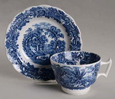 Booths BRITISH SCENERY BLUE (SCALLOPED) Oversized Cup & Saucer 830014