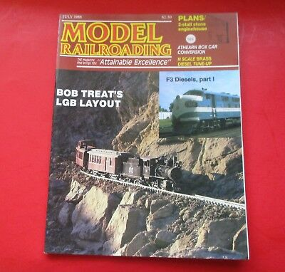 MODEL RAILROADING 1988 July F3 sels 2 stall stone ... on railroad depot house plans, draw my own house plans, railroad section house plans, railroad car house plans, railroad steam engine side rods,