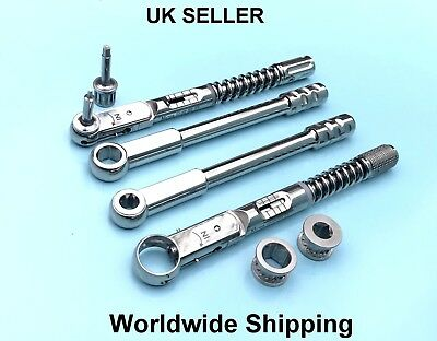 Dental Implant Torque Wrench Ratchet Adapter Drivers Screws Dental Tools
