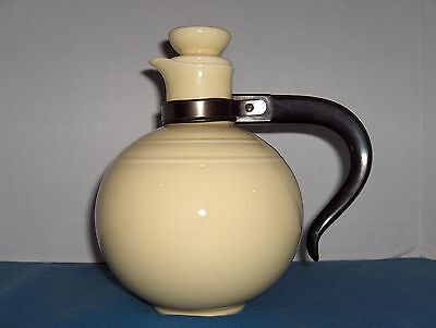 Vintage VERNON KILNS  Yellow Coffee Server w/Lid & Bakelite Handle