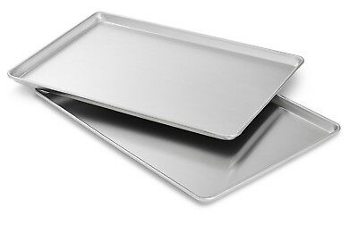 Commercial Grade 18 x 13 Half Size Aluminum Sheet Pan for Baking Bread  2 pack