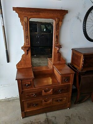 Beautiful Antique Wooden Vanity from the mid to 1800's