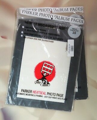 Parker HeatSeal Photopages #810 8x10 Black  (2 Packs - 5 Pages per Pack)