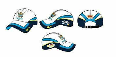 Gold Coast Titans NRL 2017 BLK Players White Training Cap! BNWT's!