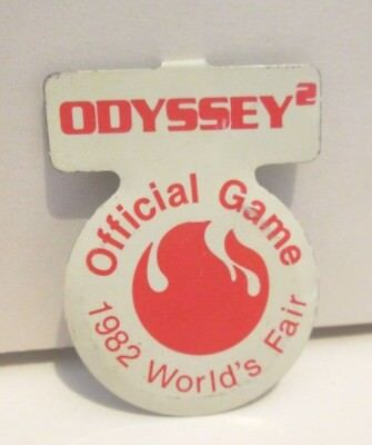 1982 Knoxville Tennessee World's Fair Odyssey Official Video Game Foldover Pin