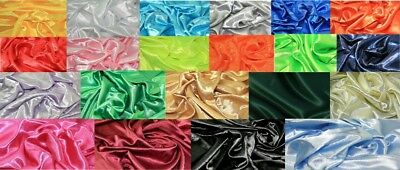 Plain Polyester Silky Satin Fabric Dress Making Material Lining