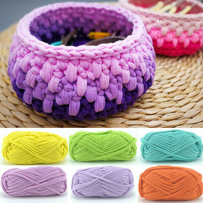 Hand-Knit Woven Thread Thick Basket Blanket Braided Crochet Cloth Fancy Yarn Uk