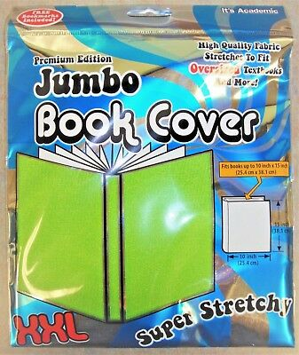 Jumbo Book Cover by It's Academic Premium Edition XXL Stretchable Fabric - Green
