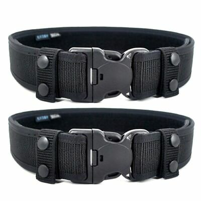 2Pcs New Black Ballistic Nylon Professional Duty Belt Keepers