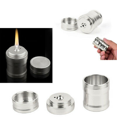 Outdoor Lab Equipment Alcohol Lamp Silver Camping Alcohol Burner Survival