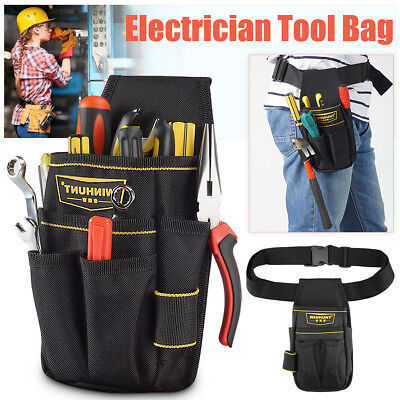 WINHUNT Electrician Waist 6 Pocket Tool Belt Screwdriver Utility Pouch Bag Case