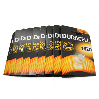 9x Duracell CR1620 3V Lithium Button Battery Coin Cell DL/CR/ECR 1620 Exp. 2026