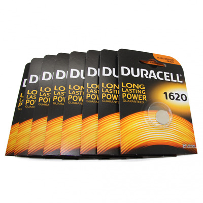 8x Duracell CR1620 3V Lithium Button Battery Coin Cell DL/CR/ECR 1620 Exp. 2026