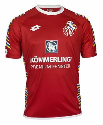 Lotto Mens Football Soccer FSV Mainz 05 Carnival Jersey Shirt 2017 2018 Red Whit