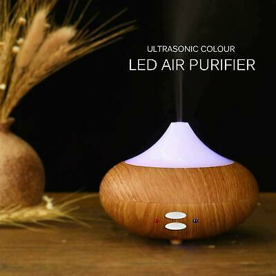 Ultrasonic Essential Oil Aroma Diffuser Mist Humidifier 7 Colors LED Light Timer