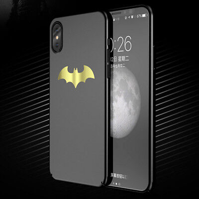 Shockproof 360° Hybrid PC Hard Back Case Batman Cover For iPhone XS MAX/X/8 Plus