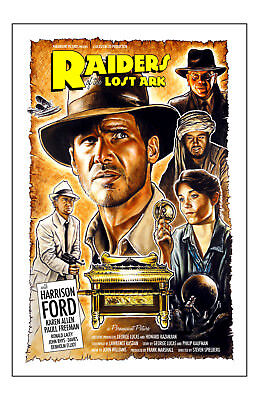 Indiana Jones Raiders Of The Lost Ark Movie Poster 11x17in/28x43cm Harrison Ford
