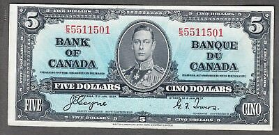 1937 Bank of Canada - $5.00 Note - VF/EF - Coyne Towers E/S 5511501