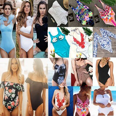 Women One-Piece Swimsuit Swimwear Push-up Monokini Bikini Bathing Suit Beachwear