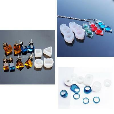 8 Silicone Jewelry Mold For Resin Necklace Ring Earring Mould Craft DIY Tool