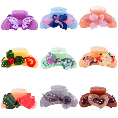 Women's Hair Claw Clamps Clips Butterfly Clamp Banana Ponytail Hair Accessories