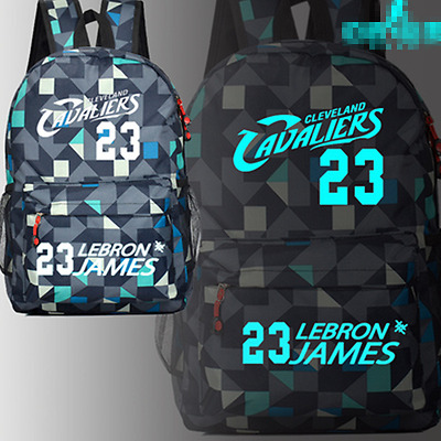 b527ceb51d4e Lebron James Cavaliers Luminous Number 23  Galaxy Geometric Backpack School  Bags