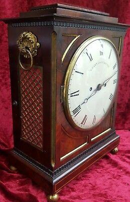 JOHN GRANT DOUBLE FUSEE ENGLISH BRACKET CLOCK circa 1800