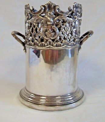 Martin Hall and Co, Sheffield, Edwardian Silver Plated Wine Coaster