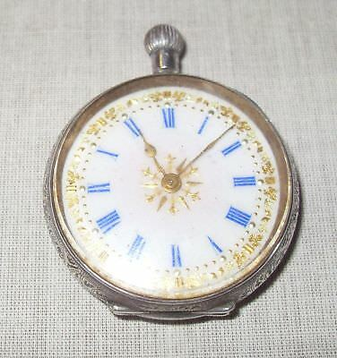 Vintage/Antique Swiss Silver Engraved 0.935 Stamped Pocket Watch/Restoration