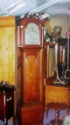 ANTIQUE OAK AND LONGCASE CLOCK by VALENTINE DOWNS circa 1750.