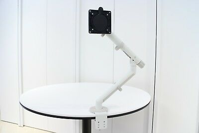Colebrook Bosson Saunders Flo Single Monitor Arm (White and Grey) No Box
