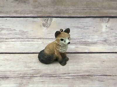 Retired Stone Critters Littles Resin Fox Figurine Ornament