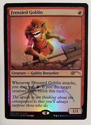 FRENCH GOBELIN HYSTERIQUE MTG MAGIC CARTE FNM FOIL DCI FRENZIED GOBLIN NM