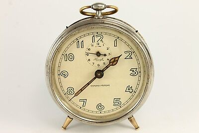Antique TAM-TAM KIENZLE Alarm Repeat Desk Clock 1930`s Germany RARE