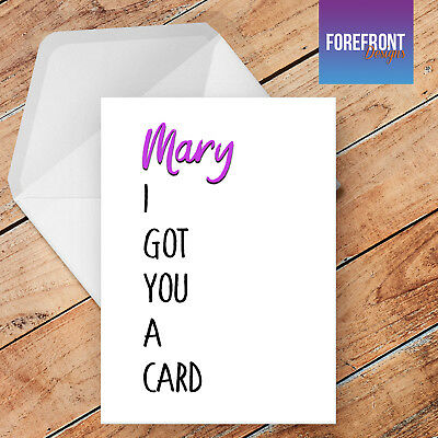 Personalised funny birthday greetings card - Funny/Joke/Spoof/Silly/Rude card