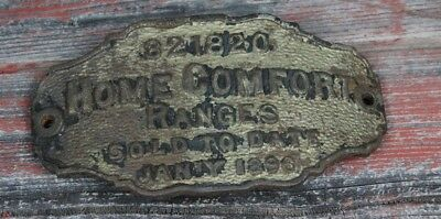 antique 1896 cast iron HOME COMFORT RANGES stove plate