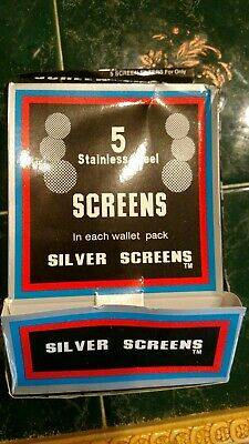 silver pipe screens 2 packs =10 Silver screens stainless steel