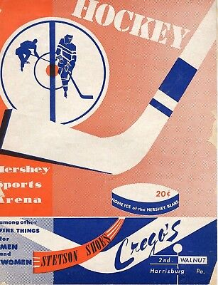 Nov. 24, 1951 Hershey Bears Program (Cover Is Loose)