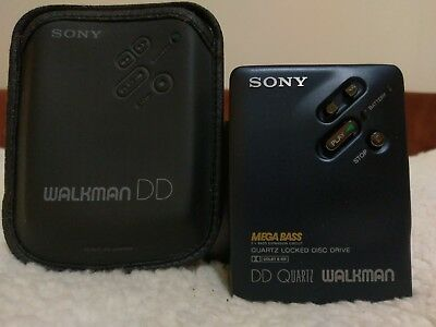 Sony Walkman WM-DD33; NEW Center Gear, Cleaned and Lubed, Case, Amazing Blue!