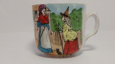 Antique Hand Painted Cinderella And The Fairy Godmother Cup - B Purday